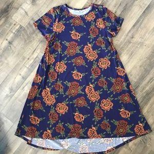 LuLaRoe XL Floral Carly Dress